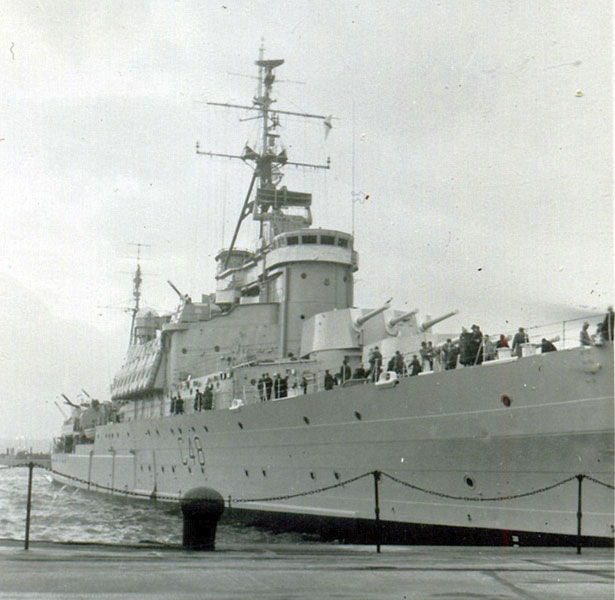 HMS Gambia, Liverpool, Sunday, December 4, 1960