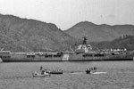 HMS Glory at the Fleet Ships Regatta, Marmarice, Turkey, July 1950. Photo from my dad's albums.