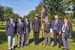 HMS Gambia Association reunion at the HMS Gambia Memorial at the National Memorial Arboretum, Alrewas, Staffordshire on September 14, 2019