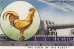 A Lambert and Butler cigarette card from 1938 showing and descibing the Cock of the Fleet. New York Public Library Digital Collections B15262620