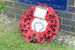 Wreath laid at the HMS Gambia memorial at the National Memorial Arboretum, Alrewas in 2008 by the Seaham Branch of the Royal British Legion.