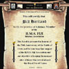 HMS Fiji Internet Association scroll for Bill Hartland